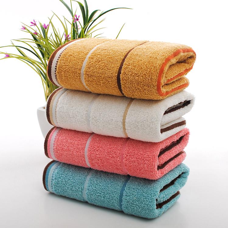 丝带横条毛巾 间条色织大循环cvc彩条横条竖条印花毛巾厂家定制