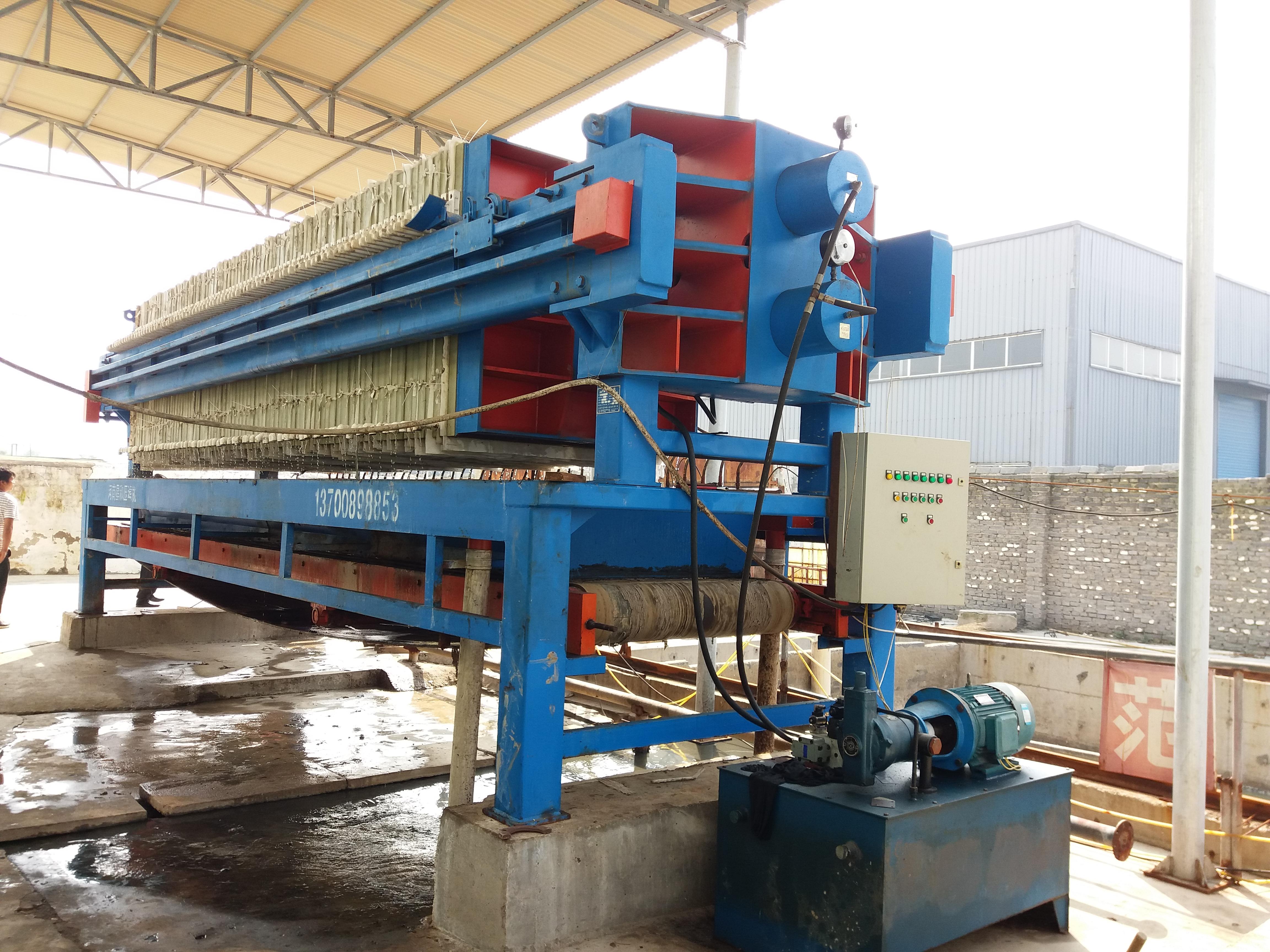 1500型300平方米隔膜压榨 隔膜压滤机
