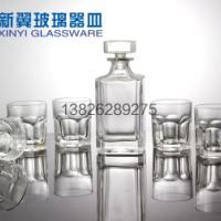 古典六角玻璃杯礼盒套装洋酒具套装