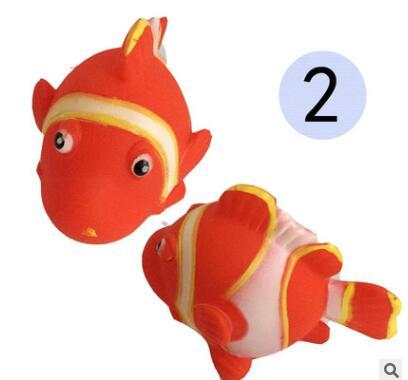 芭芘巴比搪胶公仔卡通动物 六款儿童益智戏水玩具捏捏叫游水鱼