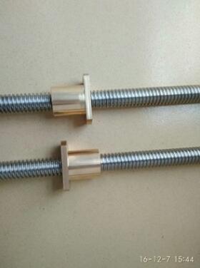 梯形丝杆螺母 普通丝杆 铜螺母40CR材质丝杆不锈钢梯形