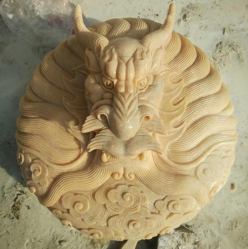 石雕龙头壁挂狮子壁挂喷水摆件动物喷水壁挂厂家直销