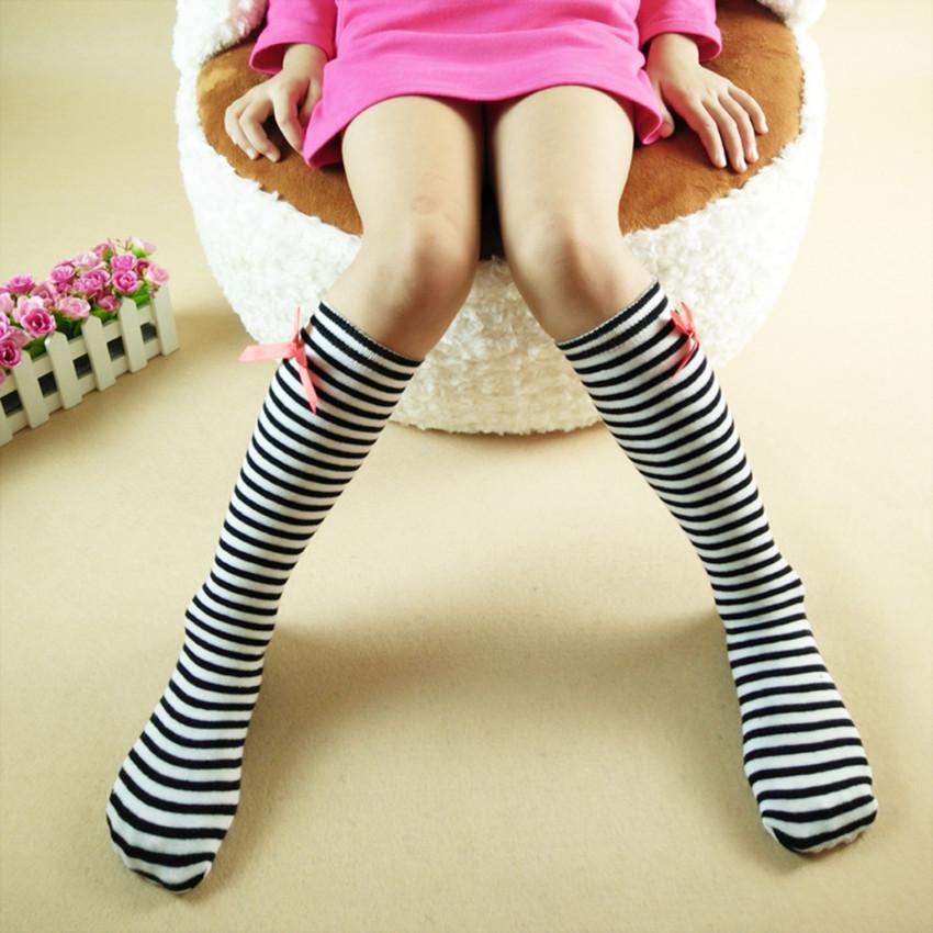 韩国蝴蝶结全棉中筒袜销售