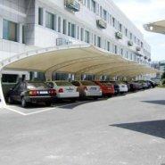 膜结构汽车棚 景观棚 钢结构停车图片