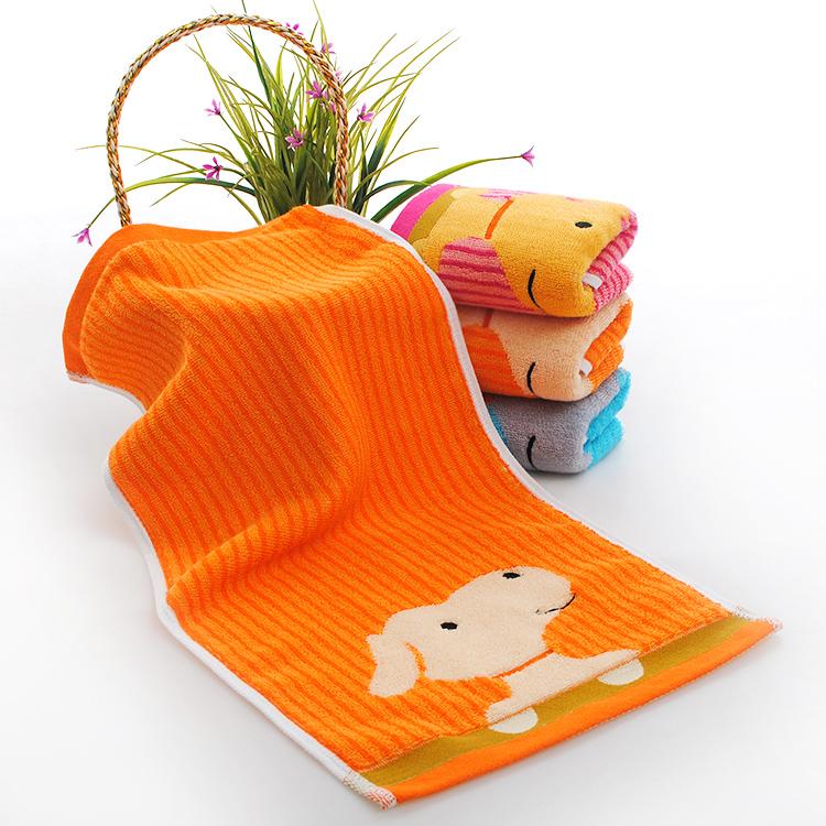 家居舒适毛巾 纯棉蓝绿条纹毛巾 柔软吸水毛巾 厂家批发 支持订造 儿童卡通毛巾