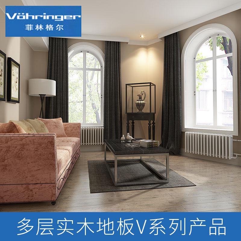 厂家直销 多层实木地板V系列产品 复合地板15mm家用橡木 品质保障