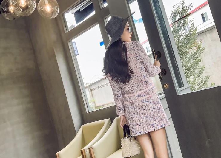 2017春秋新品东大门小香风外套半身裙秋装时尚套装两件套潮