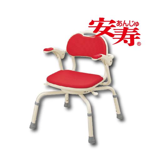 安寿(Aron536-192日本进口扶手360度旋转折叠洗澡椅