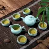 龙泉茶杯品茗杯公道杯茶壶青瓷茶具套装