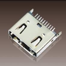 焊线 ZX-HDMI 母座 插板 ZX-HDMI  HDMI母座90° DIP三排针