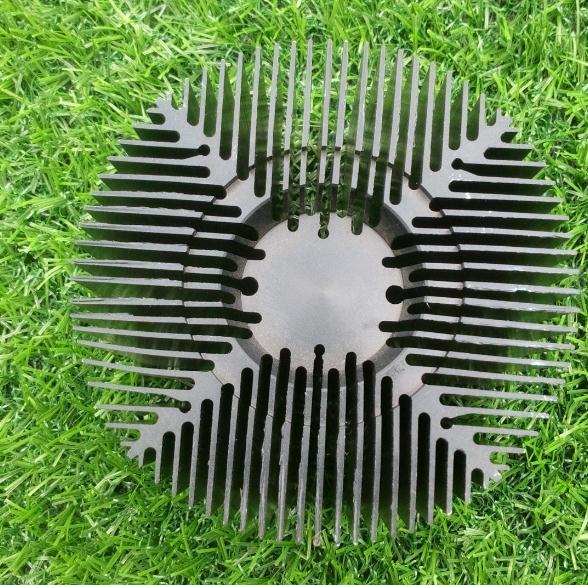 太阳花散热器铝型材 led散热器铝型材 工业散热器铝型材可开模