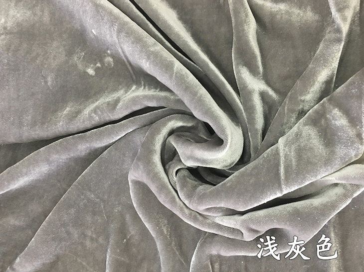 天鹅绒真丝面料桑蚕丝布料纯色真丝绒乔绒服装面料金丝绒面料