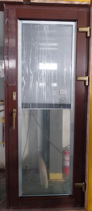 铝包木门窗钢化中空玻璃内置磁控百