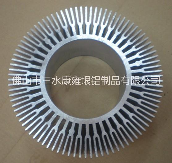 供应铝型材太阳花散热器厂家 LED路灯挤压供货商 太阳花散热器价