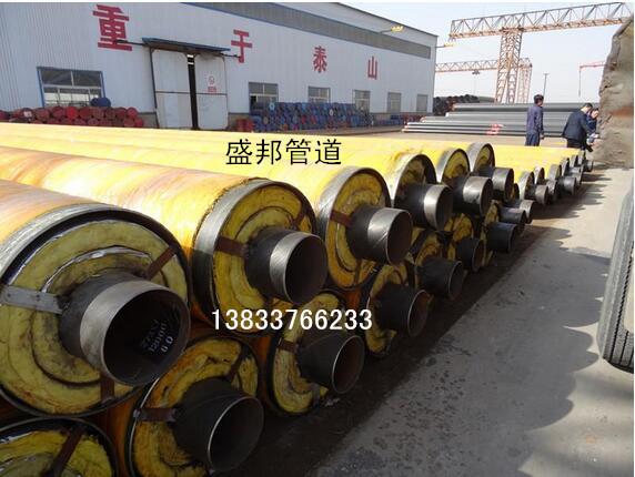 钢套钢直埋蒸汽保温钢管生产厂家现场施工价格