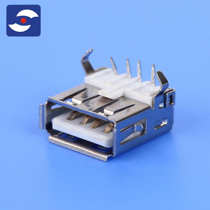 USBA母板端DIP型 ,厂家直销USBA母板端DIP型,电脑周边系列螺丝电子连接器定制,USBA母板端DIP型批发