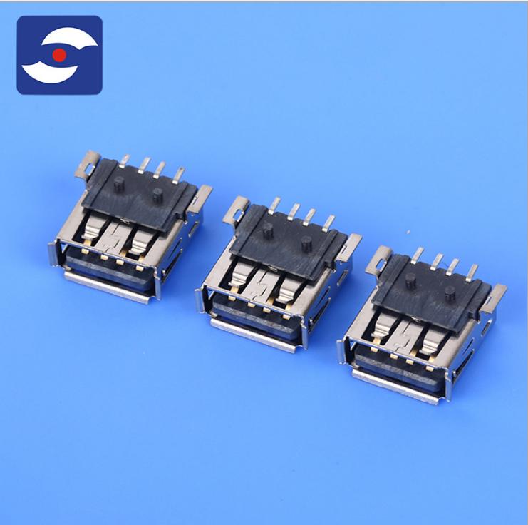 厂家直销USBA母板端DIP型 电脑周边系列螺丝电子连接器定制 USBA母板端DIP型批发