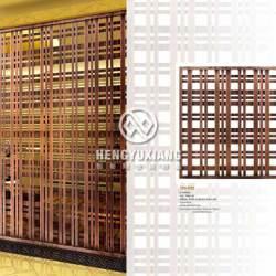 不锈钢屏风隔断镂空  客厅定做拉丝红古铜