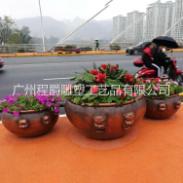 玻璃钢水缸造型花盆图片