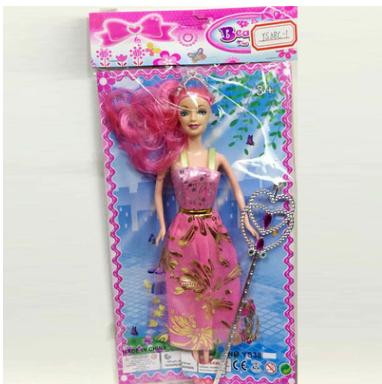 厂家直销单独包装PVC娃娃玩偶公仔 实身简装公主芭芘巴比娃娃玩具