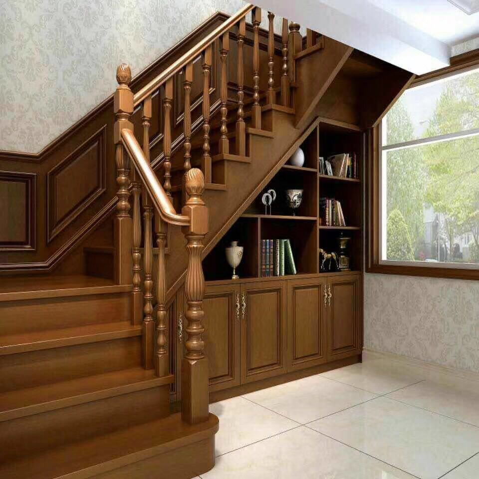 原平实木楼梯定制 原平室内实木楼梯定制 原平室内实木楼梯中式定制 原平室内实木楼梯厂家直销