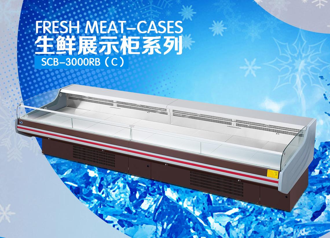 广州生鲜展示柜厂家直销 供应优质超市展示柜鲜肉展示柜