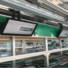 电子作业指导书SOP液晶显示工厂车间流水线无纸化作业LED电子看板SOP无纸化作业一体机图片