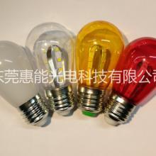 LED圣诞灯泡 110V美国电压 S14 1W 圣诞及节日装饰灯泡 暖白或彩色 LED圣诞灯泡 LED装饰灯泡 LED圣