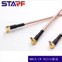 RF射频连接器MCX-KE焊接弯角90度MMCX-KE母头四脚座子PCB线路板