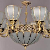 厂家直销 欧式全铜半吸灯 圆形玻璃焊锡灯 客厅卧室餐厅铜艺灯饰