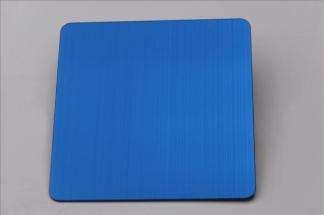 佛山304拉丝宝石蓝不锈钢板