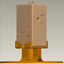 4位中美插座组合立式魔方排插批发