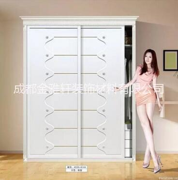 衣柜 定制整体简易实木衣柜2米三门推拉门衣柜移门大衣柜衣橱厂