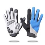 骑行手套亚马逊新款冬季保暖加厚触屏手套男女户外自行车手套定制