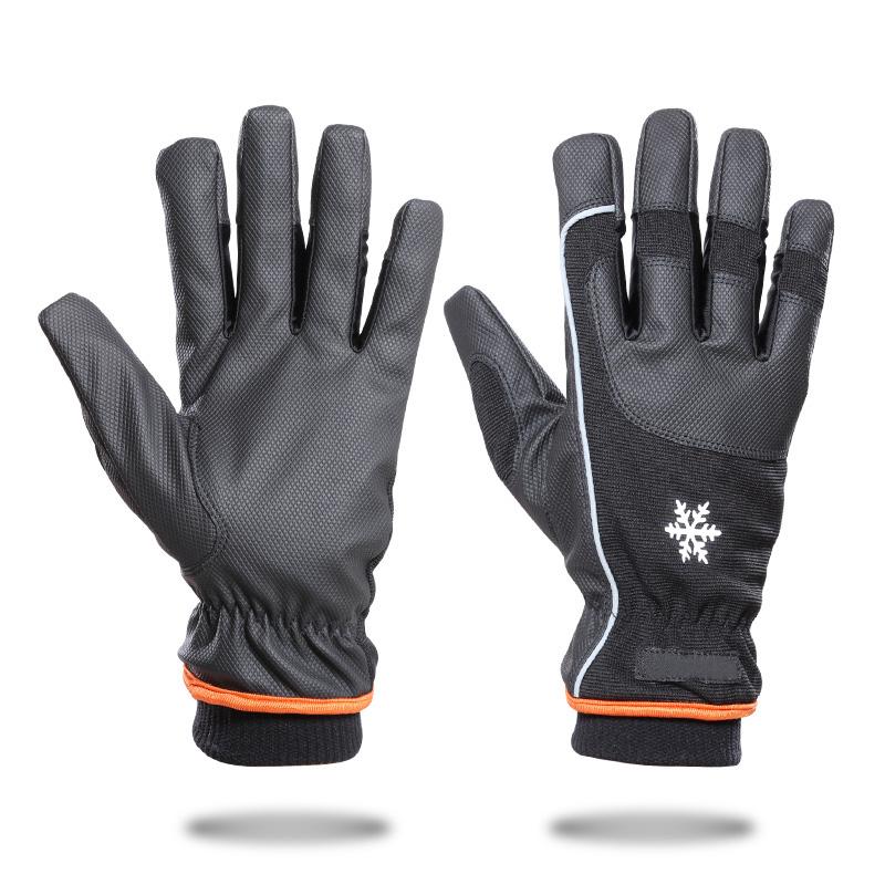 冬季骑行手套全指透气防滑减震山地自行车手套男女士户外保暖手套 冬季骑行手套全指透气防滑减震手套