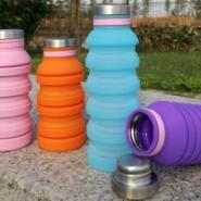折叠水壶硅胶水杯图片