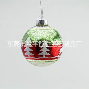 厂家定制圣诞球 圣诞彩绘玻璃球图片