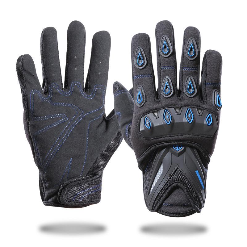 ODM贴牌摩托车手套全指冬季防水越野自行车手套男女户外骑行手套