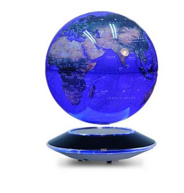 深圳8寸磁悬浮地球仪供应商  led夜光多彩自转地球仪价格    创意家居礼品摆件可定制