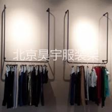 个性复古服装架 服装架价格 不锈钢服装展示架图片