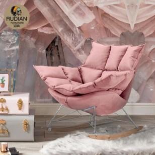 懒人单人成人鸟巢沙发真皮个性摇椅图片