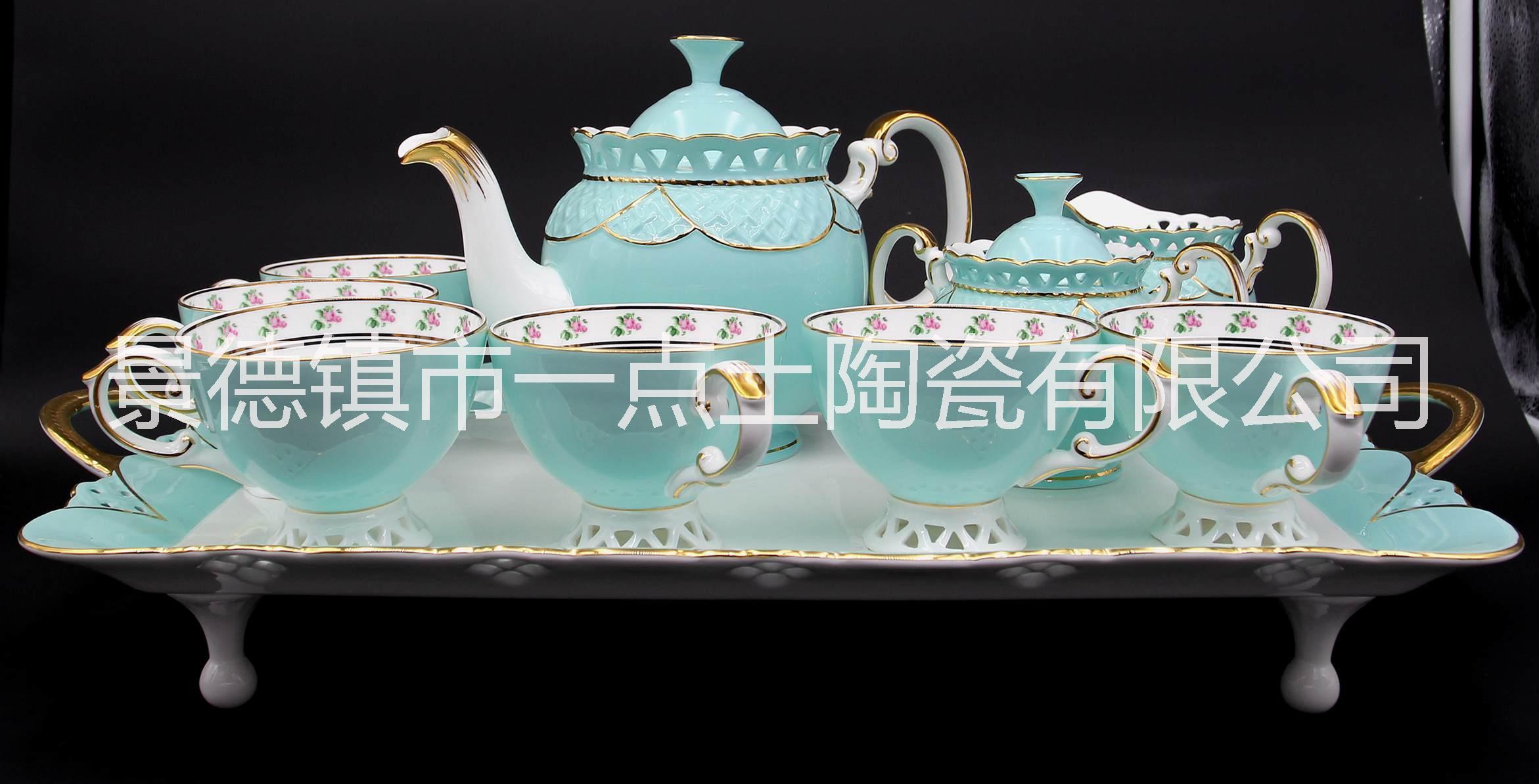 景德镇骨瓷咖啡具厂家批发直销 景德镇骨瓷咖啡具厂家加工批发直销
