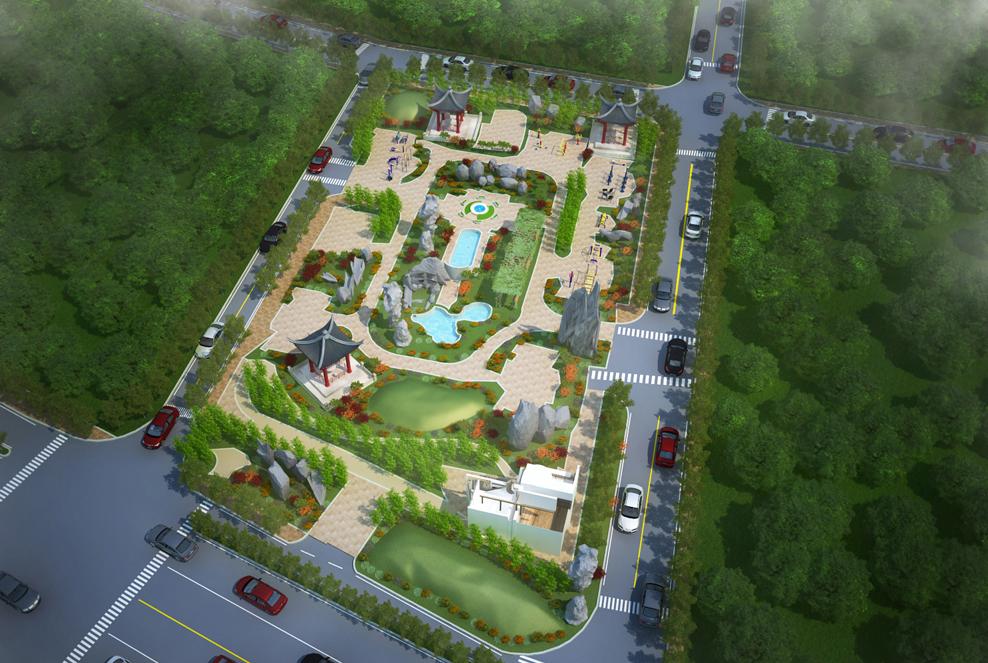 供室外鸟瞰图,设计室外鸟瞰效果图,景观规划制作效果图
