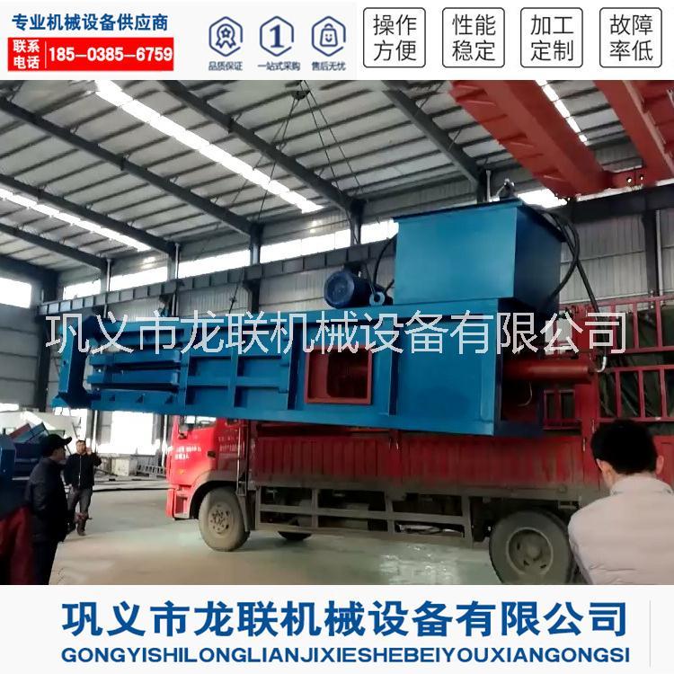 广西龙联全自动旧纸箱打包机生产厂家 液压塑料瓶压缩打包机设备