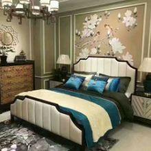 厂家批发酒店用床 佛山酒店卧室家具供应商 酒店卧室家具定做批发