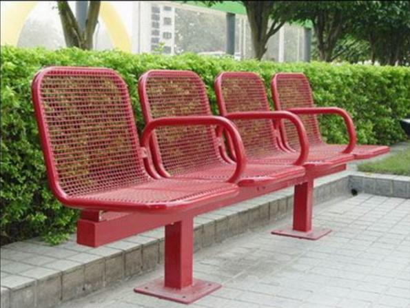 专业生产公园里铁木长椅,商业钢制休闲长凳