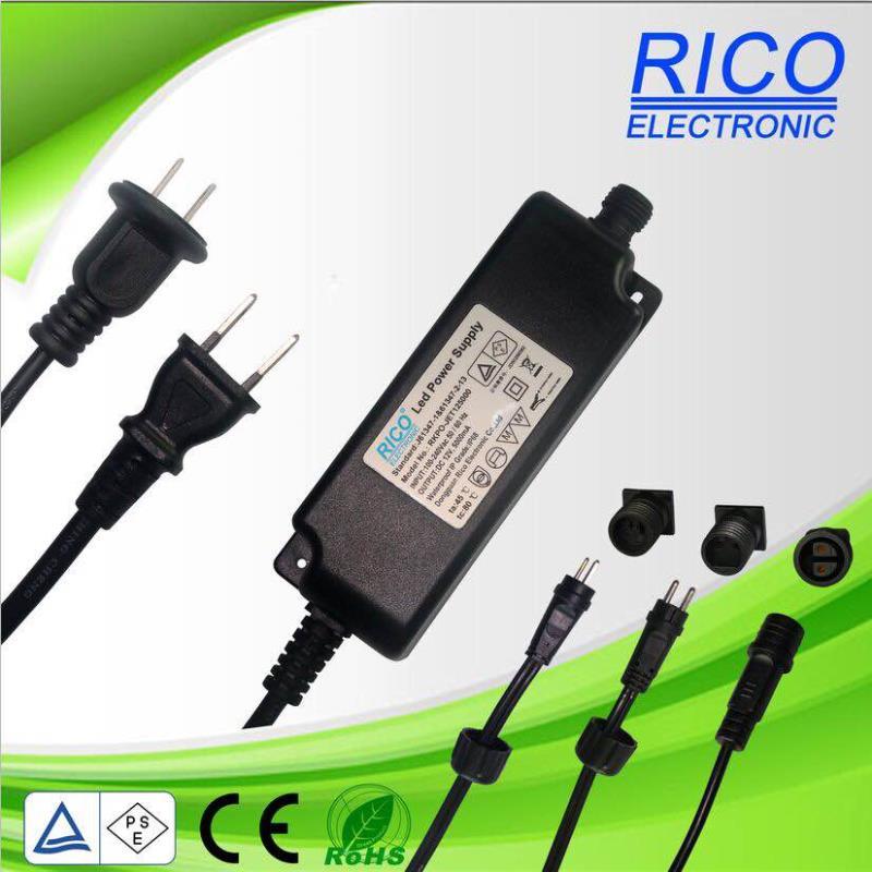 供应PSE日规12V5A60W防水电源power