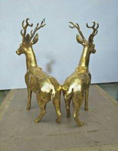 铸铜鹿图片
