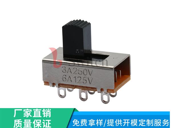 厂家直销大电流拨动开关SS-22K26规格22×12.8×7.8m型号SS-22K26-GXXX高品质低报价环保型耐高温
