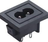 供应带UL认/证的8字形插座 安规环保8字尾插座 电视机专用八字插座